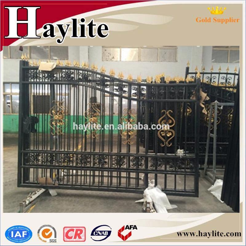 Main Gate For Villas Simple Iron Pipe Gate Design