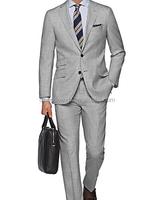 2017 Customized Men's Pattern Fashion Navy Blue Suits Pant Coat