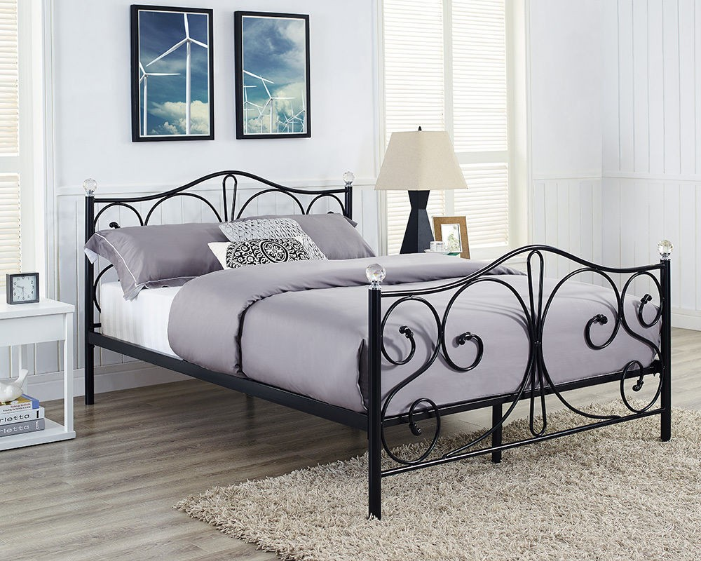 New Style Latest Metal Bed Modern Bedroom Sets Double Cot