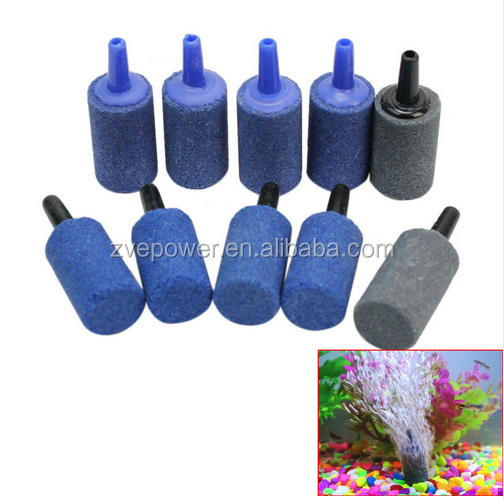 Aquarium Cylinder Shape Air Stone Mineral Bubbles Release Fish Tank Punp Airstone Aeration Aerator Accessories