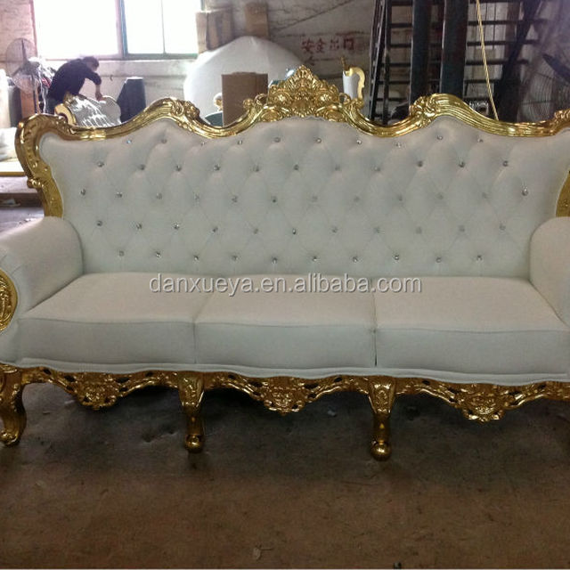 DXY 836# Crystal Nails French Carved Sofa Set In Living Room