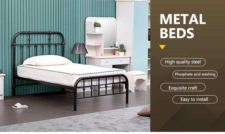 Tirare fuori della maglia della piattaforma daybed telaio Forte Telaio del letto a castello di Metallo con studio pieghevole bordo per la casa mobili camera da letto
