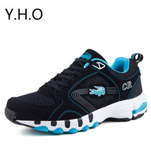 Hot Size 37-47 Breathable Casual Men Fashion Sneakers Nubuck Leather Shoes New Spring Sport Running Shoes Mens Crocodile Shoes