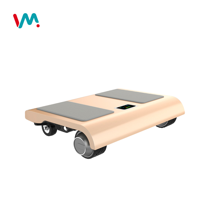 4 Wheels portable 160W walk car intelligent electric kick scooter with APP, Champaign gold/darkgray/blue/silver