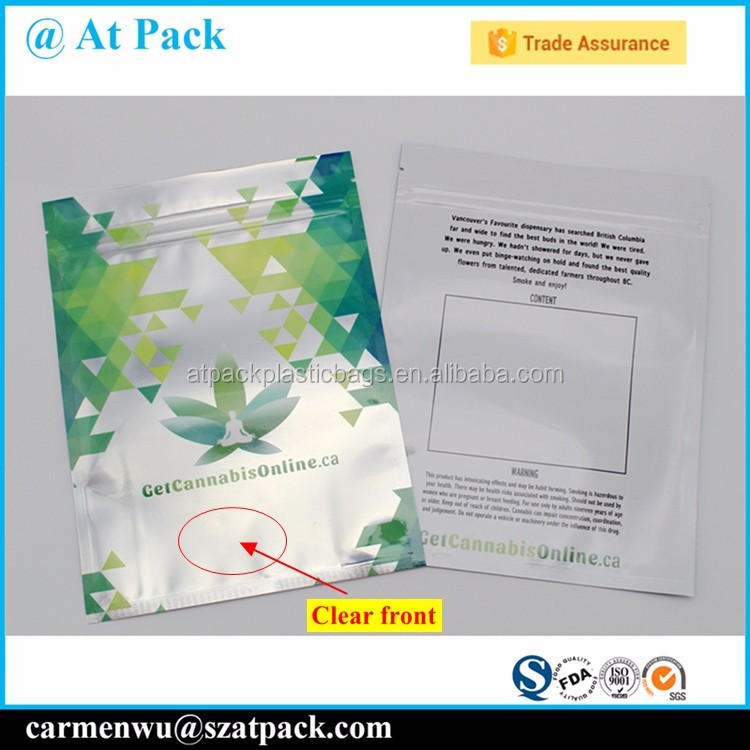 Custom printed heat seal foil lined 3 side seal sachet