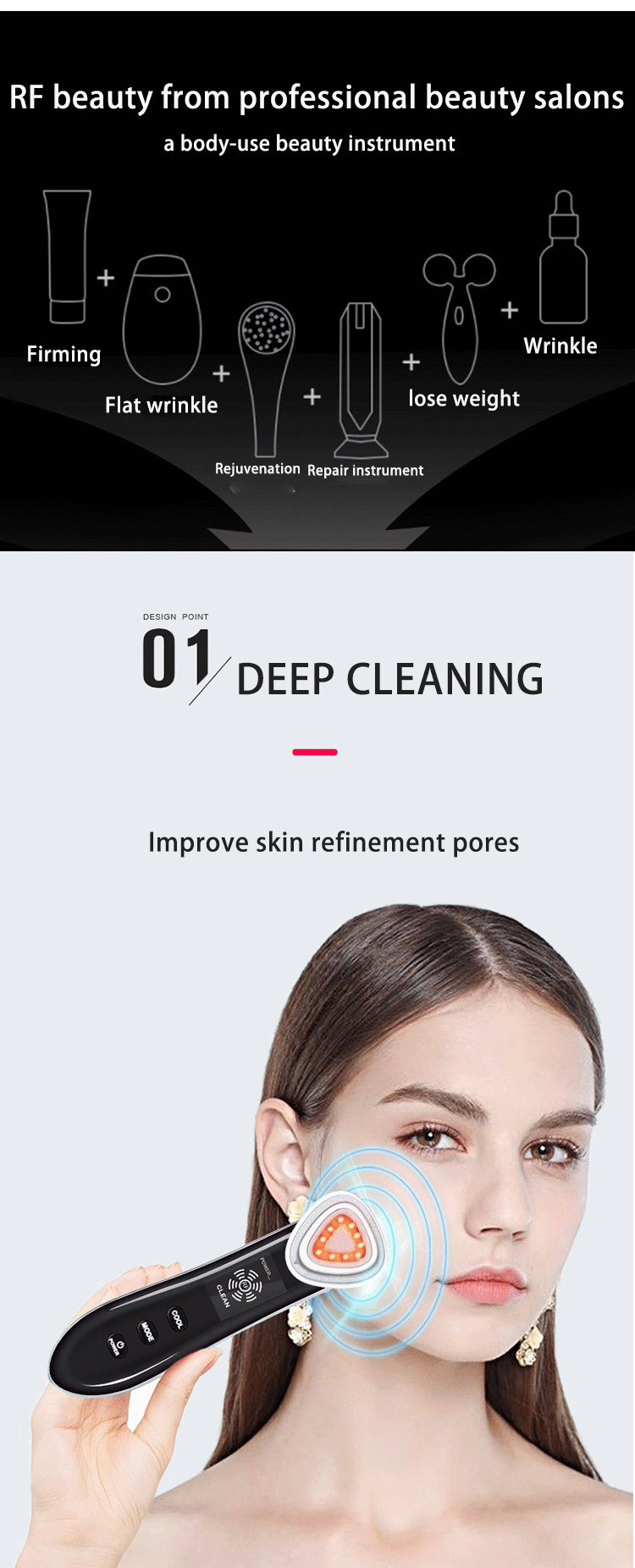Салон светодио дный красоты РФ LED Ион удаление морщин оборудование для кожи спа красоты