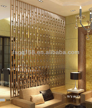 Hall Partition Wall Mounted Room Divider With Aluminum