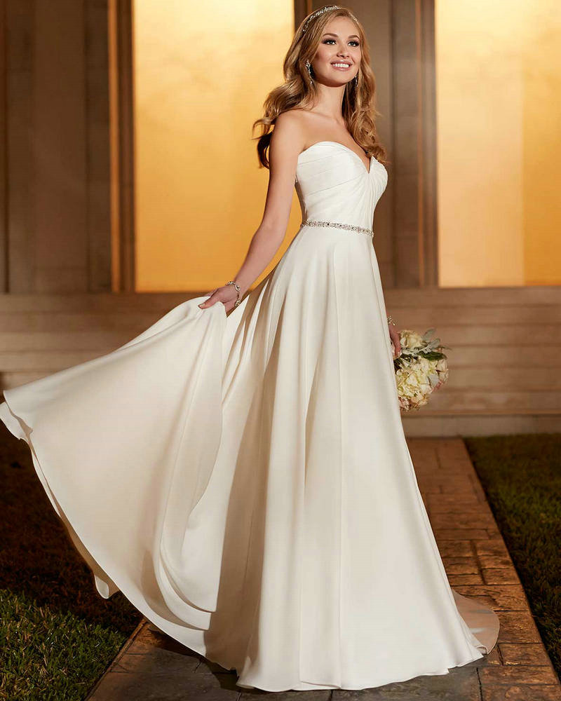 Casual Wedding Dress Taffeta Ivory Empire Bridal Party