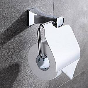 WAN Toilet Paper Holder Chrome Wall Mounted 14*13.7*9cm(5.5*5.4*3.5 inch) Brass Contemporary
