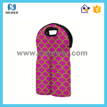 High quality neoprene wine carrier plastic cover with zipper
