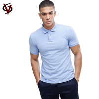 High Quality 100% Cotton Pique Mens Custom Blank Polo Shirt