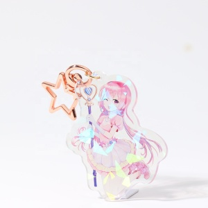 2019 VOGRACE make your own design custom printed acrylic keychain/ custom printed acrylic charms