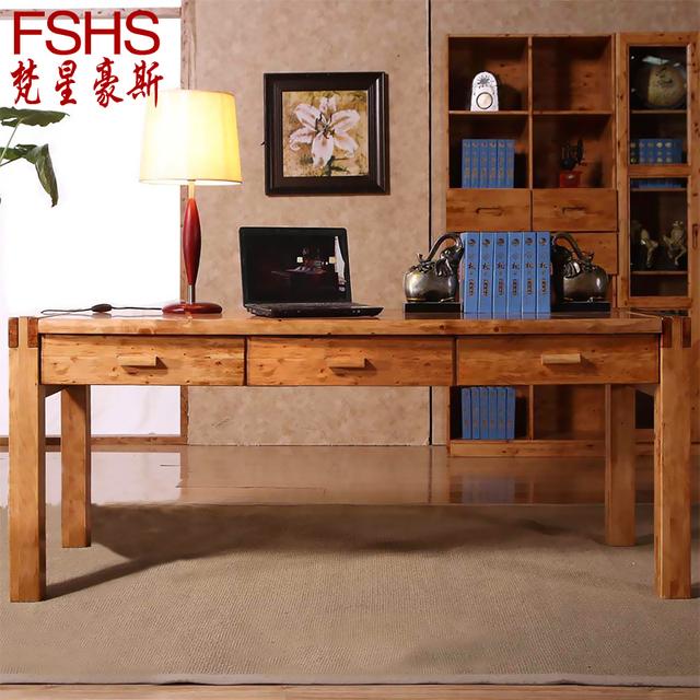 Home Office Furniture Uk Desk Set 18: Fshs Cedar Wood Ikea Computer Desk Desktop Double