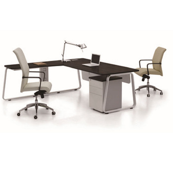 Metal Executive Home Office Desks Computer Table Furniture L Shape Corner Desk
