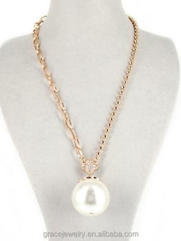 Simple design big round white pearl pendant necklace with price simple design big round white pearl pendant necklace with price mozeypictures Gallery