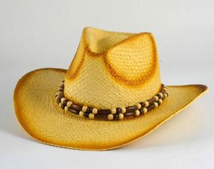 Manufacturer High quality Mexican Style fashion cheap Raffia straw cowboy hat for man