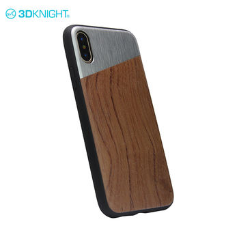 Alloy and rosewood light luxury cover wood phone case laser for iphone x wood