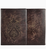 Genuine vintage Leather wallet table case stand function dark color for ipad pro