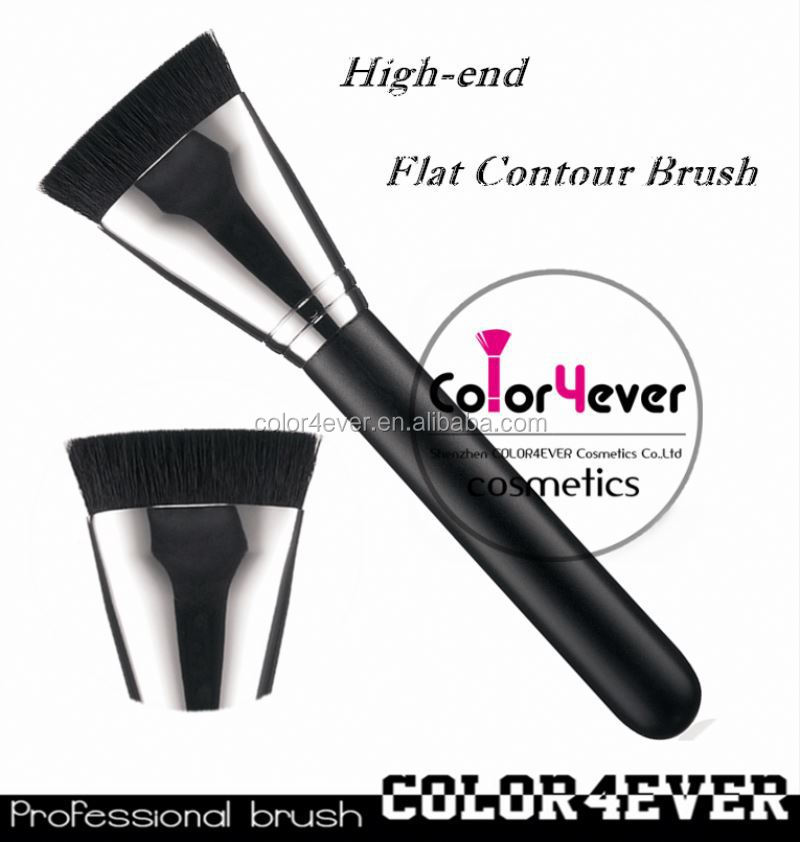 Wholesale hot sell 163 flat contour makeup brush with copper makeup brushes free samples