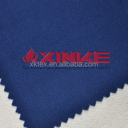 180gsm dark blue modacrylic/cotton inherent fr anti-static fabric in stock for sale
