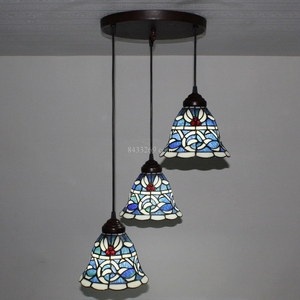 3 shades 8inch Tiffany handmade stained glass pendant lamps for home decoration 8