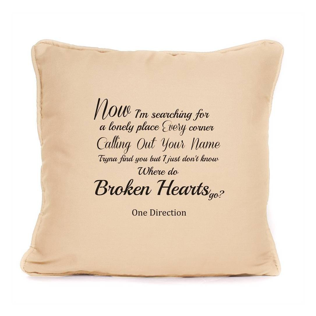 Buy One Direction Broken Hearts Song Lyrics Cushion Great
