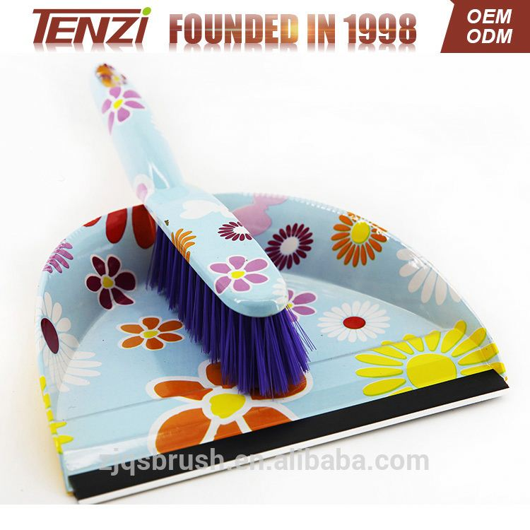 2017 popular brush and dustpan Cleaning plastic brush with dustpan