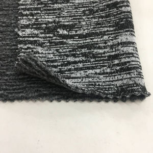 100% Polyester 200 gsm Yarn Dyed One Side Brushed Fleece Fabric For Sweater Shirt