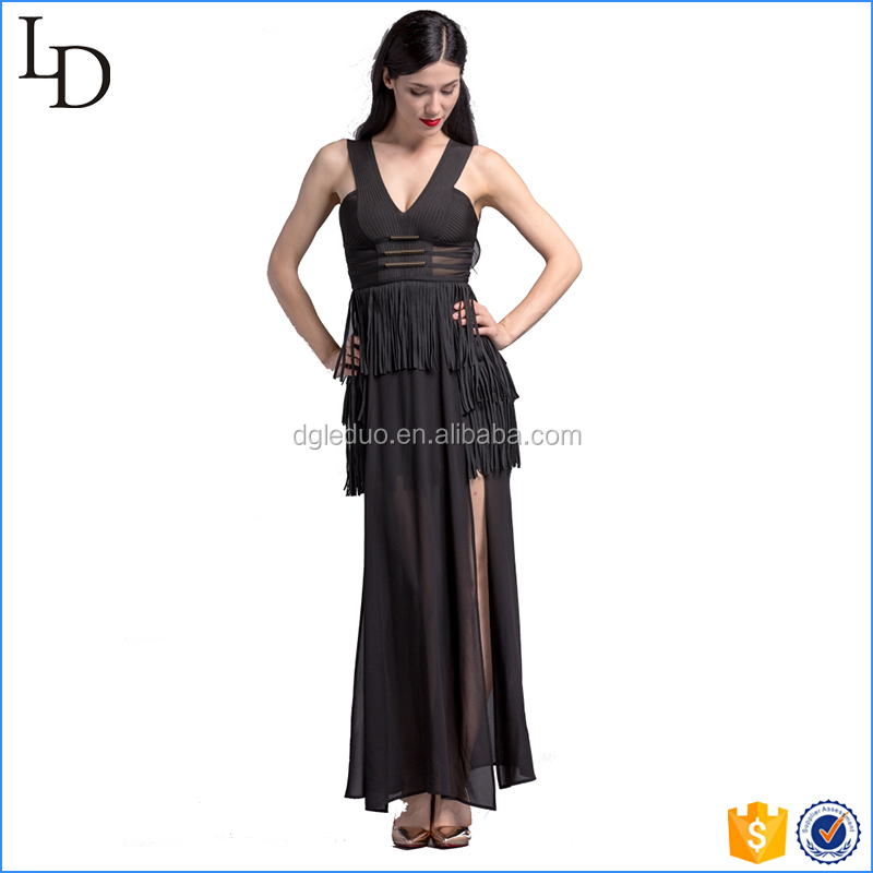 Europe design of evening dress women luxury long dress for party