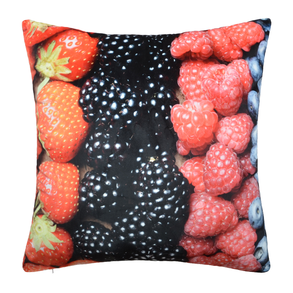 Furit interesting design digital print cushion cover