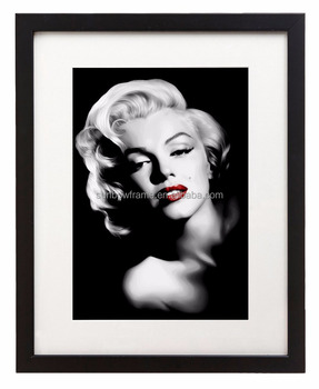 Sexy Marilyn Monroe Wall Art Decor Picture Frame Black White 8x10 11x14  Picture Frame With Mat
