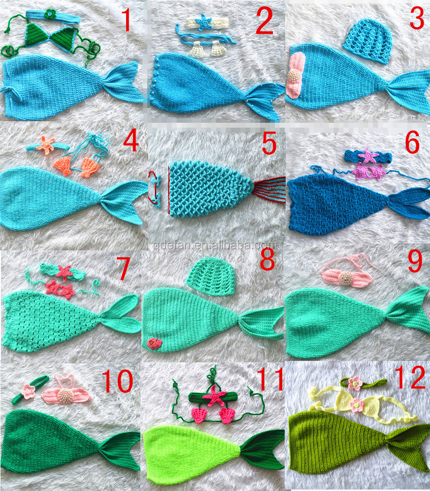 Crochet cola de sirena bebé crochet trajes bebé photo props ...