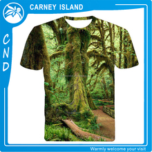 customize fancy full size photographic printing 3d t-shirt for man manufacturer from China