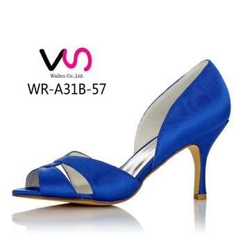 Royal blue color bridal shoes for wedding women dress shoes party shoes  made in china bda7e6493265