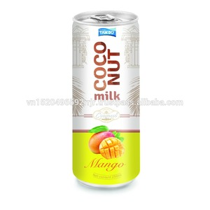 Bulk coconut milk in aluminum can for exports from big manufacturer in Vietnam