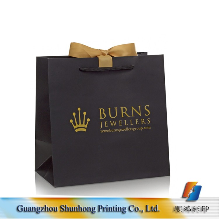 Luxury Small Paper Shopping Bag Ribbon Tie Cheap Personalized Gift ...
