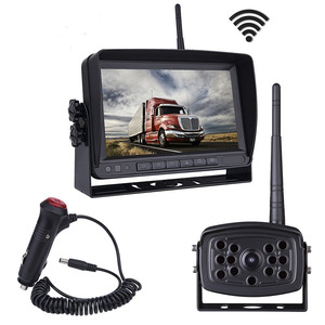 wireless rear view system 7 inch HD monitor with waterproof night vision wireless camera