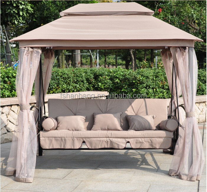 Luxury Outdoor Patio Gazebo Reclining Bed Swing With Mosquito Net And Roof    Buy Patio Bed Swing With Roof,Gazebo Reclining Swing Bed,Luxury Outdoor  Swings ...