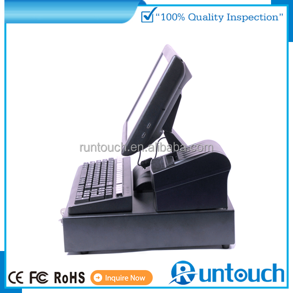 Runtouch EcoPOS Touch Screen POS System EPOS TILL Cash Register 15 inch high quality touch pos