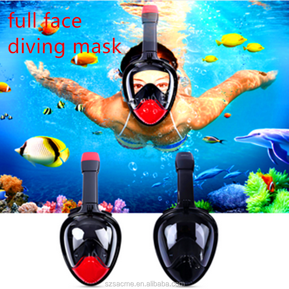 Underwater Full Face Snorkeling Mask Swimming Training Scuba Mergulho Diving Mask Snorkel