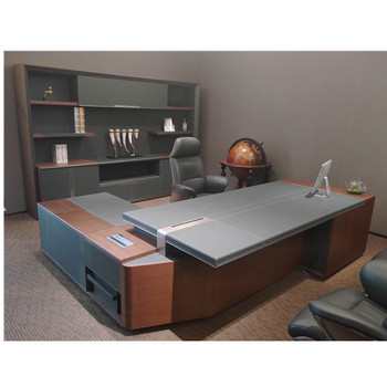Modern Boss Table Executive Ceo Desk Luxury Wooden Office Furniture