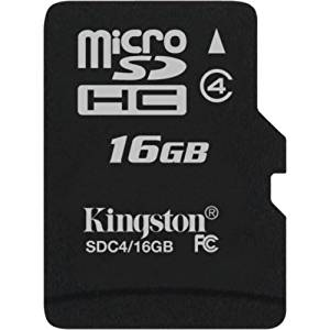 "Kingston Technology Company - Kingston Sdc4/16Gbsp 16 Gb Microsd High Capacity (Microsdhc) - 1 Card/1 Pack ""Product Category: Memory/Memory Cards"""
