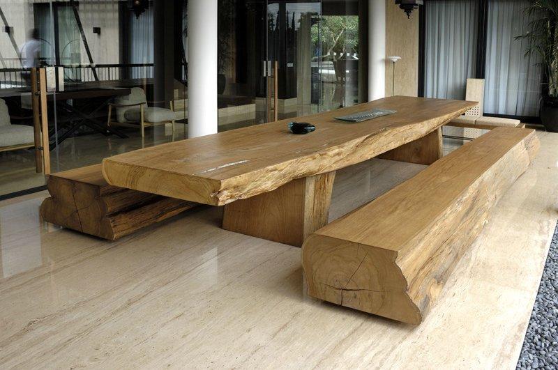 One Piece Single Solid Teak Table