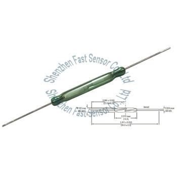 Magnetic Contact Green Glass Reed Switch RI-03