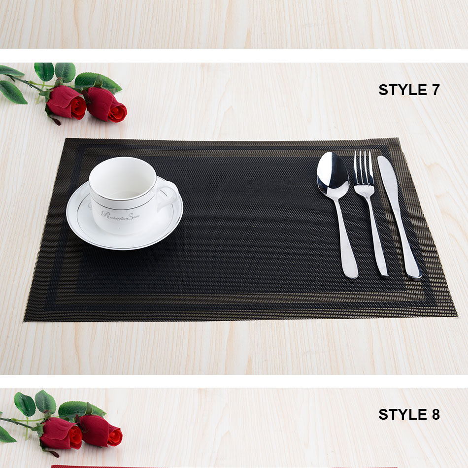 2019 Wholesale Top Finel 2016 Pvc Plaid Vinyl Placemats