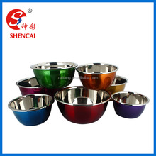 Colorful stainless steel cookware salad bowl / mixing bowl / cooking bowl set