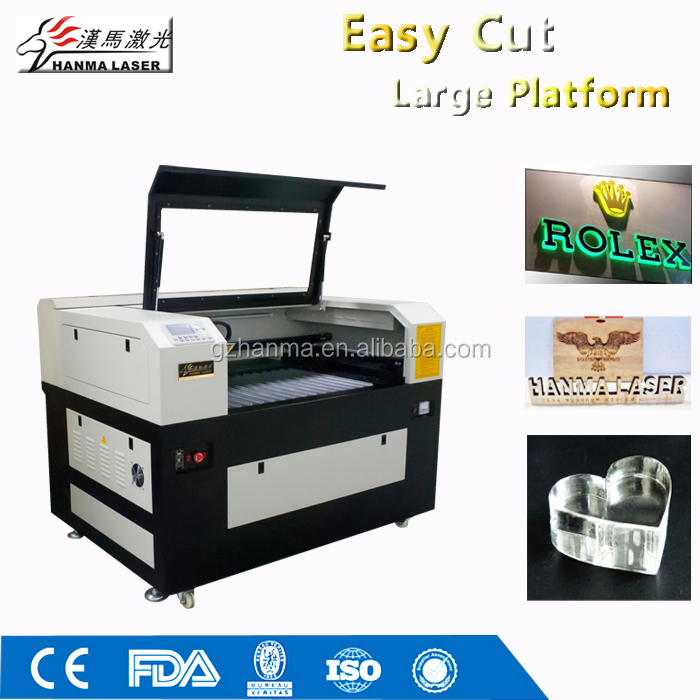 HM-1060 Acrylic CNC Double Laser Head CO2 Laser Engraving&Cutting Machine/handicraft/lable processing equipment