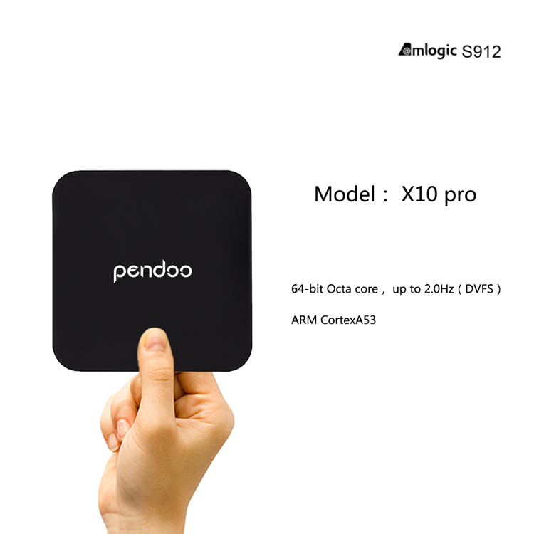 pendoo X10 pro Amlogic S912 3G 32G android 7.0 smart set top box wifi