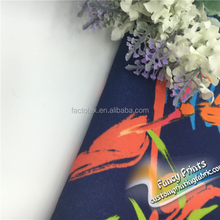 Factory price digital printed canvas fabric 100 cotton