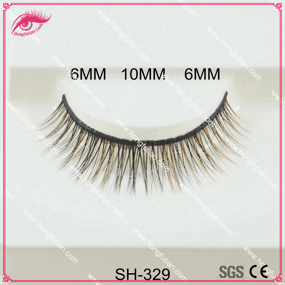 Hot sale false eyelashes popular style 100% real artificial mink fur material with lowest price
